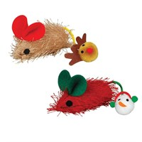 Christmas Tag-a-Long Mice 2 PACK