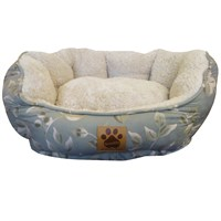 Clamshell Beds - Green Print