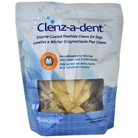 Clenz-a-dent Rawhide Chews for Dogs - Medium (30 ct)