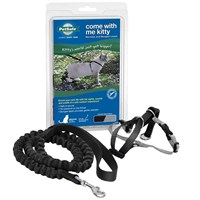 Image of Come with Me Kitty Harness & Bungee Leash - LARGE/BLACK