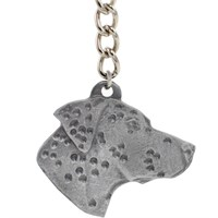 "Dog Breed Keychain USA Pewter - Dalmatian (2.5"")"