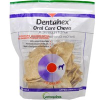 Vetoquinol Dentahex Oral Care Chews with Chlorhexidine for Dogs - Medium (18 oz)