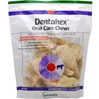 Vetoquinol Dentahex Oral Care Chews with Chlorhexidine for Dogs - Large (18 oz)