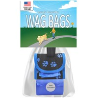 Image of Wag Bags Soft Dispenser Paw Prints - BLUE (30 Bags)