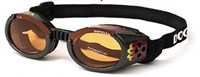 Doggles ILS Small Metallic Flames Frame / Orange Lens