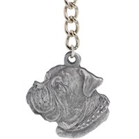 "Dog Breed Keychain USA Pewter - Dogue De Bordeaux (2.5"")"