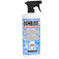 Dumb Cat® Anti-Marking & Cat Spray Remover (32 fl oz) - FREE Pet Urine Locator Blacklight