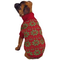 Dog Suppliesapparelsweaterseast Side Collection Snowflake Sweater Red