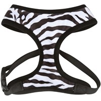 East Side Collection Plush Print Harness Zebra - Large