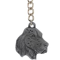 "Dog Breed Keychain USA Pewter - English Setter (2.5"")"