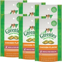 6-PACK Feline Greenies SMARTBITES Skin & Fur Chicken (12.6 oz)