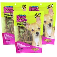 3-PACK Fido Dental Care Belly Bones (Mini 63 Pack)