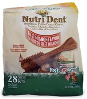 Nylabone Nutri Dent Dental Chews Filet Mignon (28 Small)