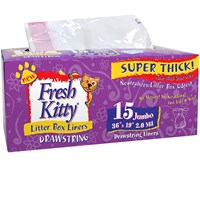 "Fresh Kitty Jumbo Drawstring Liners - 36"" x 19"" (15 count)"