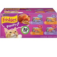 Image of Purina Friskies Poultry Variety Pack Canned Cat Food (32x5.5 oz)