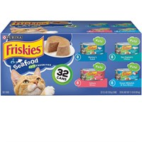 Image of Purina Friskies Seafood Variety Pack Canned Cat Food (32x5.5 oz)