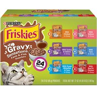 Image of Purina Friskies Gravy Sensations Variety Pack Cat Food (24x3 oz)