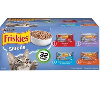 Image of Purina Friskies Shreds Variety Pack Canned Cat Food (32x5.5 oz)
