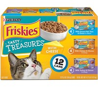 Image of Purina Friskies Tasty Treasures Variety Pack Canned Cat Food (12x5.5 oz)