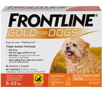 Frontline GOLD for Dogs 5-22 lbs - ORANGE (6 MONTH)
