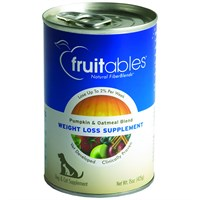 Fruitables Pumpkin & Oatmeal Weight Loss Supplement Dogs & Cats Can Food (15 oz)