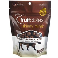 Fruitables Skinny Minis Soft & Chewy Dog Treats - Grilled Bison (5 oz)