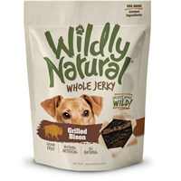 Fruitables Whole Jerky Dog Treats - Grilled Bison Strips (5 oz)