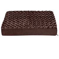 FurHaven Ultra Plush Deluxe Orthopedic Pet Bed - Chocolate (Medium) furhaven-ultra-plush-orthopedic-bed-chocolate-medium