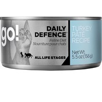 Petcurean Go! Daily Defence™ Cat Food - Turkey Pate (24x5.5oz)