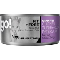 Petcurean Go! Fit + Free Cat Food - Chicken Turkey + Duck Pate (24x5.5oz)