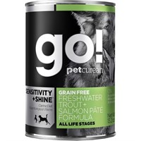 Petcurean Go! Sensitivity + Shine™ Cat Food - Freshwater Trout + Salmon Pate (12x13.2oz)