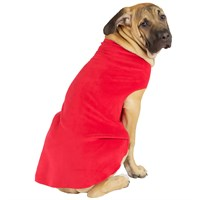 Gold Paw Stretch Fleece - Red (Size 12)