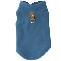 Gooby Fleece Vest for Dogs Blue - Large