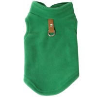 Gooby Fleece Vest for Dogs Green - Medium
