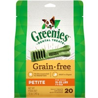 GREENIES Grain Free Treat-Pak - PETITE 20 Treats (12 oz)