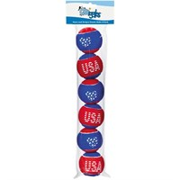 Grriggles Stars and Stripes Tennis Balls 6 - Packs