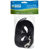 Guardian Gear Cotton Web Training Lead - Black (15 ft)