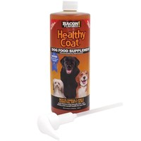 HealthyCoat Dog Food Supplement - Bacon Flavor (32 fl oz)