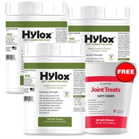 3-PACK Hylox™ Soft Chews (360 Chews) + FREE Joint Treats® Minis