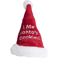 "Outward Hound ""I Ate Santa's Cookies!"" Santa Hat - Small"