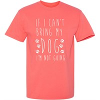 Women's T-Shirt - I'm Not Going - Large (Cornsilk)