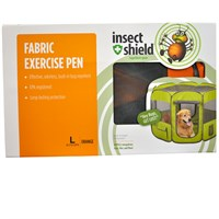 Insect Shield Fabric Exercise Pen Large - Orange