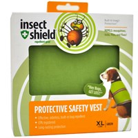 Insect Shield Protective Safety Vest XLarge - Green
