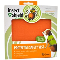 Insect Shield Protective Safety Vest XLarge - Orange