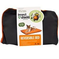 Insect Shield Reversible Bed Small - Grey/Orange