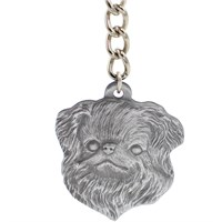 "Dog Breed Keychain USA Pewter - Japanese Chin (2.5"")"