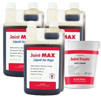 3-PACK Joint MAX® Liquid for Dogs (96 fl oz) + FREE Joint Treats® Minis