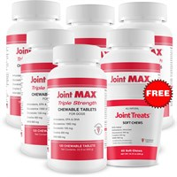 6-PACK Joint MAX Triple Strength (720 Chewablet Tablets) + FREE Joint Treats