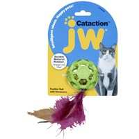 Image of JW Pet Cataction Feather Ball with Bell Cat Toy