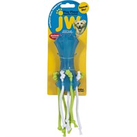 JW Pet Playplace Squeaky Dumbell with Streamers